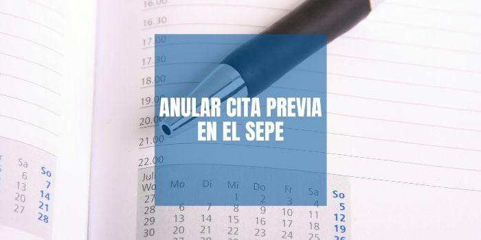 Anular Cita SEPE (INEM)