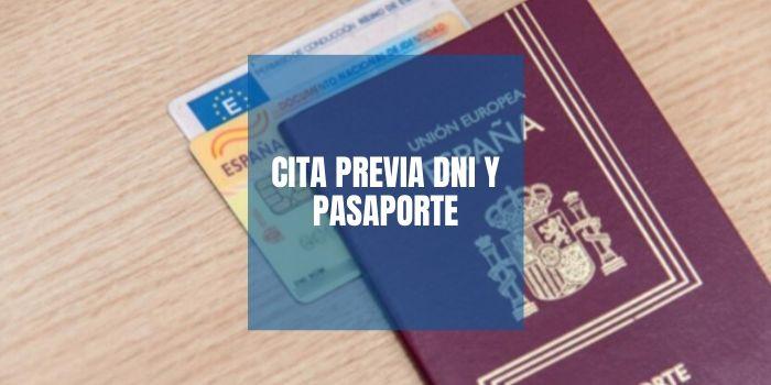 Cita previa DNI o pasaporte 2020