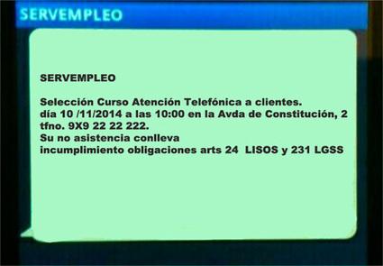 SMS DE SERVEMPLEO